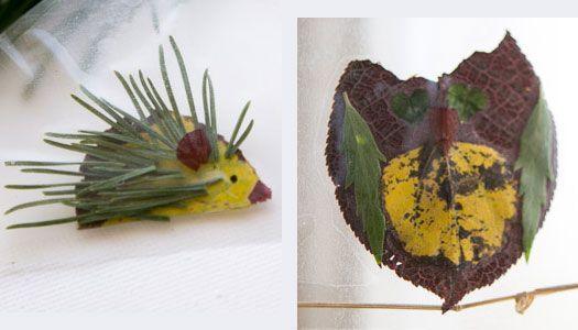Celebrate autumn by making creative leaf animals from leaves, pine needles and other great fall finds!