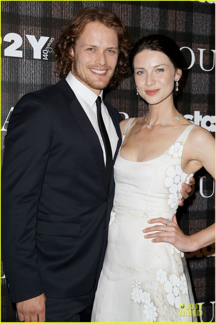 Sam Heughan and Caitriona Balfe. Sam has ringlets :)