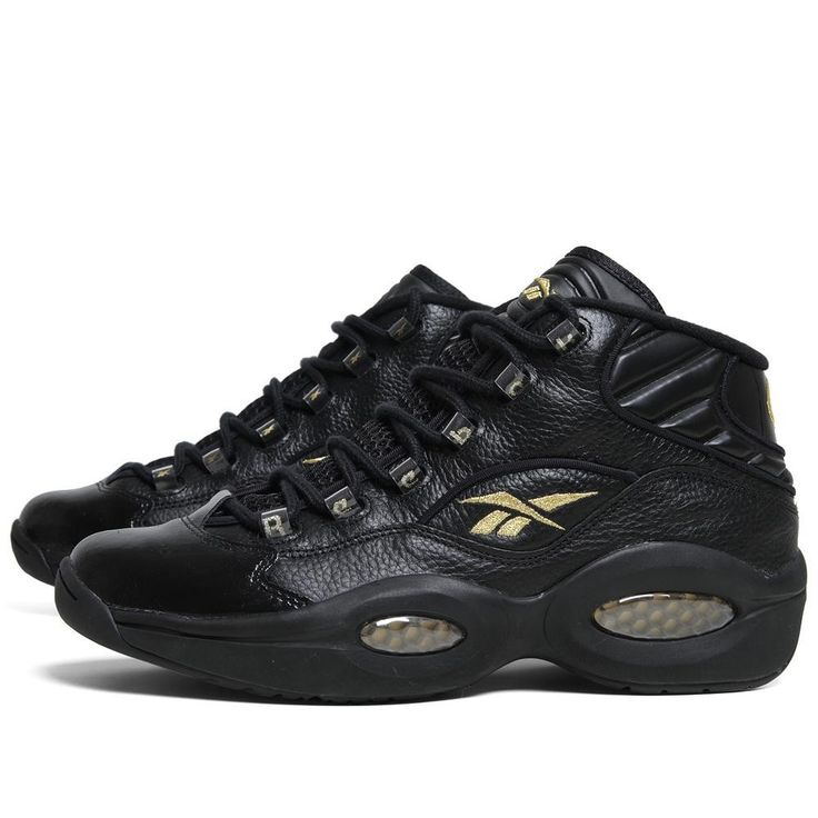 Allen Iverson Shoes | reebok-question-mid-nye-black-and-gold-allen-iverson-shoes-old-school my shoes