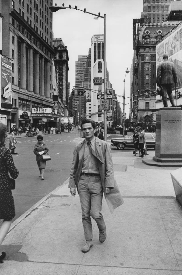 Pier Paolo Pasolini a New York negli anni '60