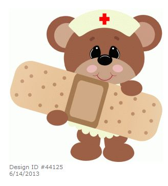 Teddy Bear ~ Nurse holding bandaid by Stinkin Cute Paper Piecings