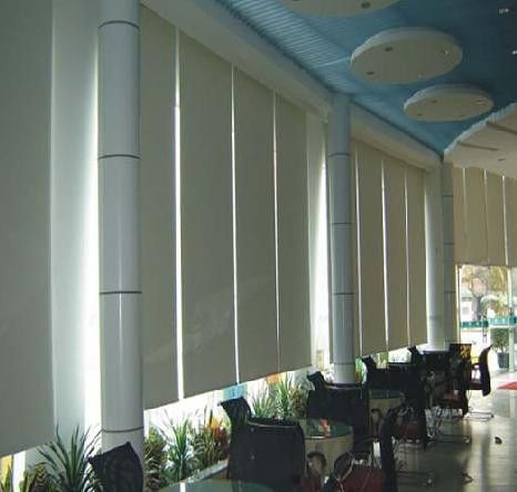 electric blinds, automatic blinds, sunscreen fabric