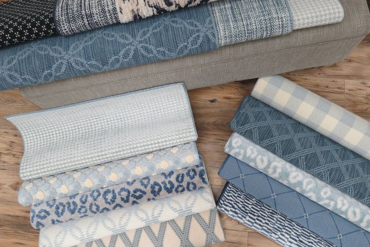 Bellbridge Carpets - designs in an array of blue hues.