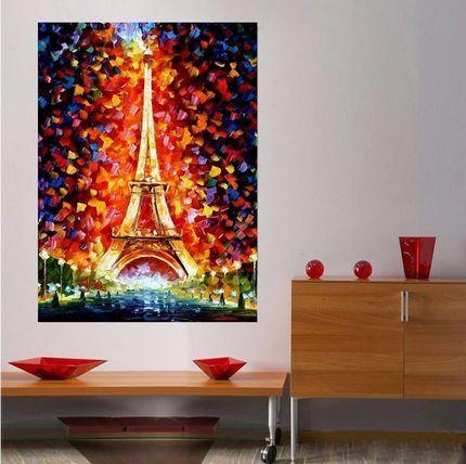 DIY живопись Эйфелева башня в Париже алмазная паста алмазная вышитые квадратный алмазного бурения картина гостиная спальня полный алмазов палки стежка