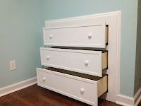 Built in dresser! Easy 2-weekend project and a great space-saver.