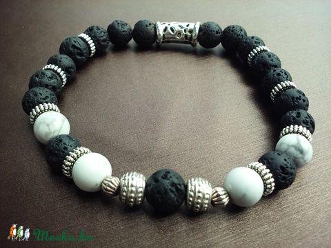 Meska - Lávakő karkötő Pour Homme Niolijewelry kézművestől