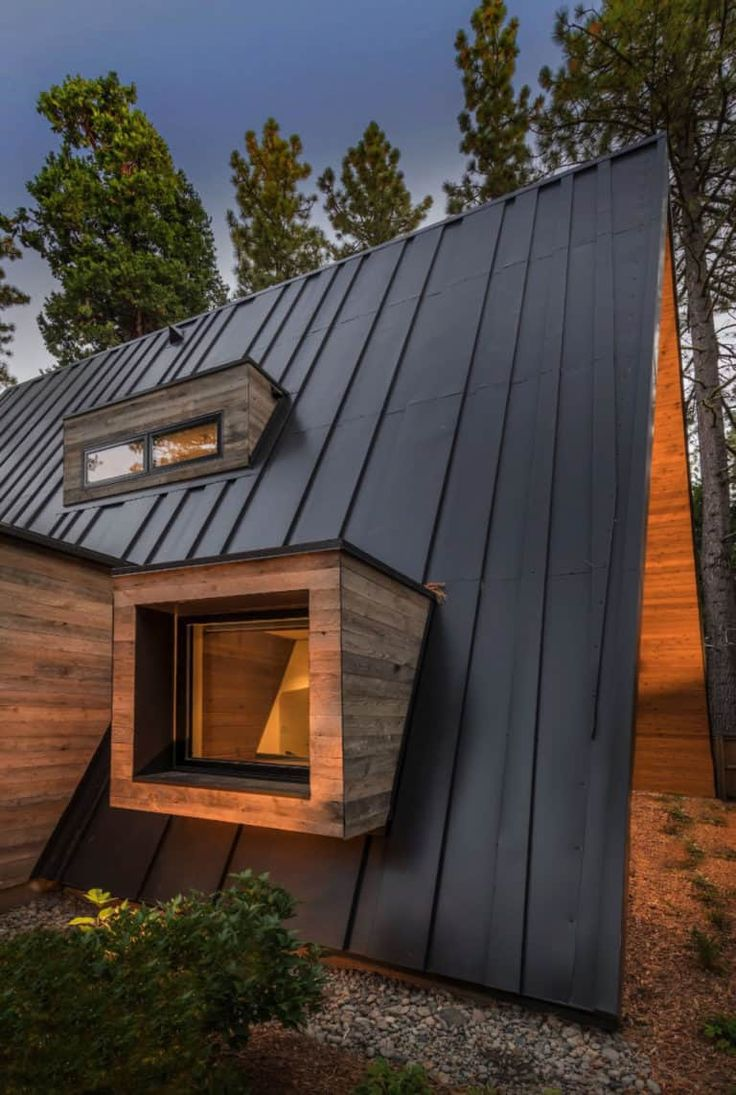 The most rustic contemporary Aframe cabin in