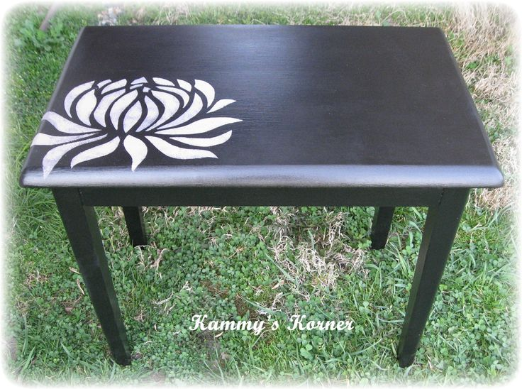diy black white painted table - Google Search