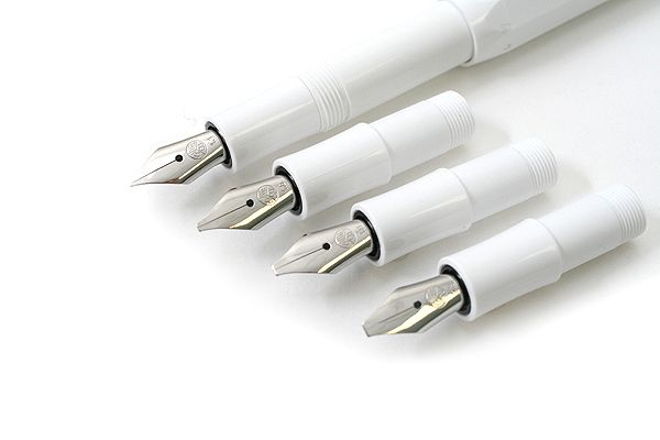Kaweco Calligraphy Pen Set - 4 Nib Sizes - White Body