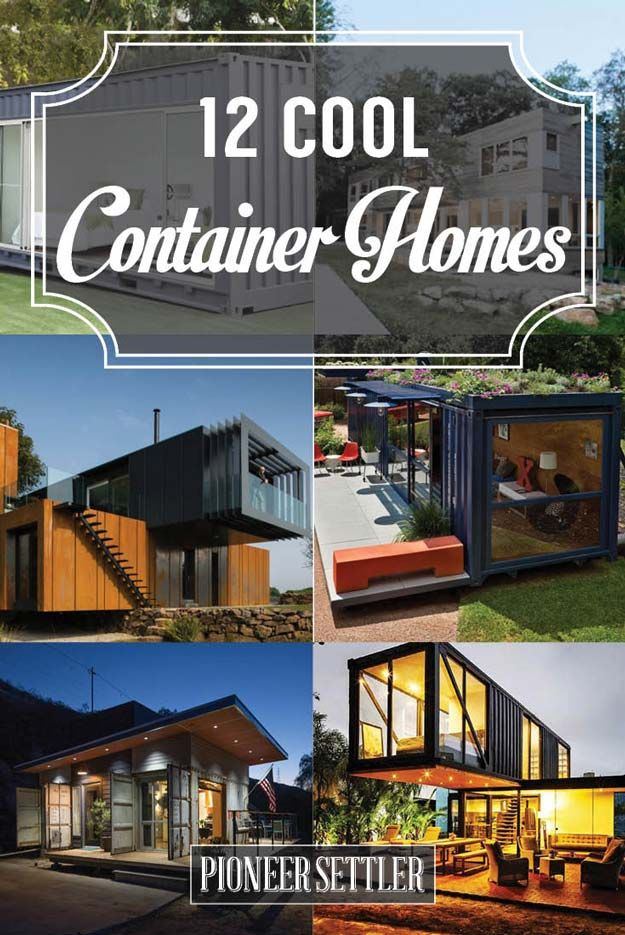 12 Cool Container Homes ~  ant to take a peek at some container homes? If you're planning to have one, then this list will give you ideas, inspiration and more!