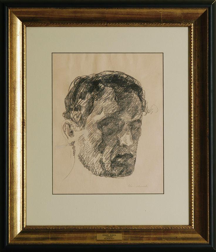 Self portrait by Edward Munch