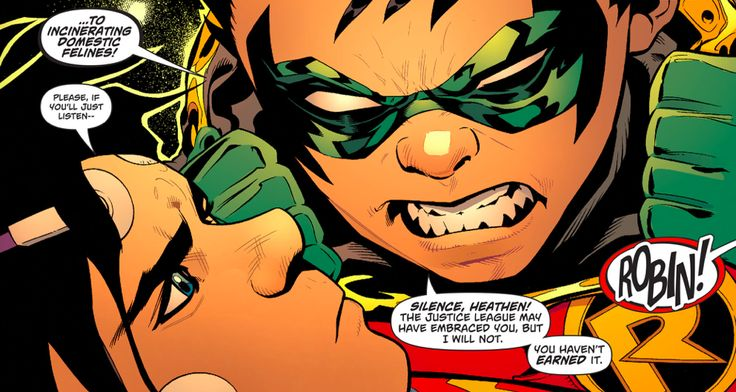 Damian meets Jon.  This kid has no chill.  Also, Damian's idea of making new friends seems to be going out and kidnapping people.