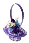 Decorative Basket Made From A Soap, Pins And Violet Ribbon With.. Royalty Free Stock Photo, Pictures, Images And Stock Photography. Image 13386185.