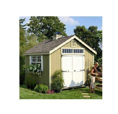 The Large Hinged Colonial Double Doors Is Just One Of Things That Make Williamsburg Garden Shed Panelized Kits Por For Your Backyard