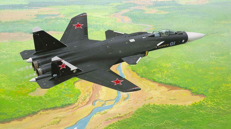 De su-47 berkut, c-37, firkin, veegde vleugel vechter wallpaper