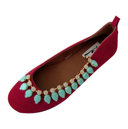 Red suede ballet flats,with turquoise swarovski,Comfortable ballet flats, genuine leather, red suede flats, swarovski flats