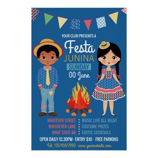 Festa Junina Corporate/Club Party Advertisement Poster