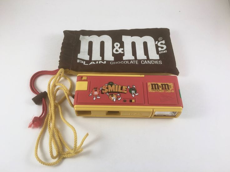 Pocket Instamatic Camera with Pouch, Vintage M & M Candy Advertising Promotion, M and M Plain, M and M Peanut Pouch, Camera Neck Strap by BarnabyGlenVintage on Etsy