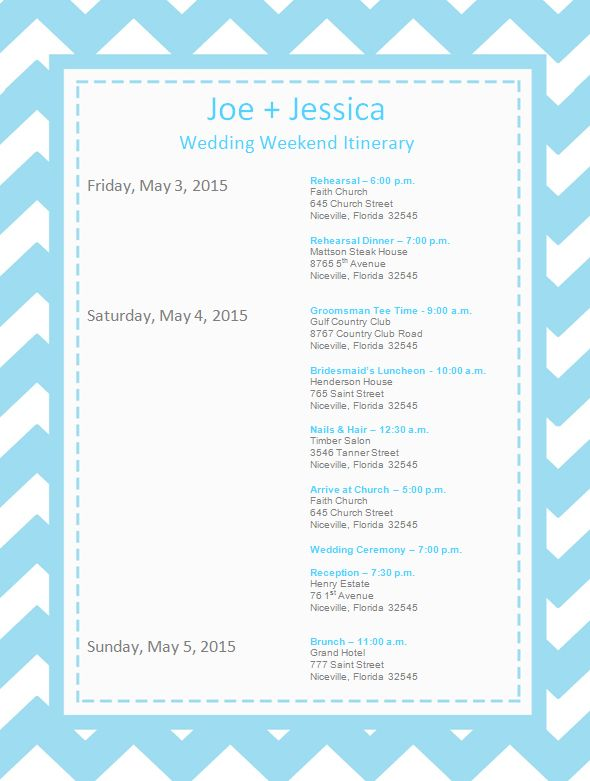 Wedding-Itinerary-Template October 9th, 2015 Pinterest - business itinerary template