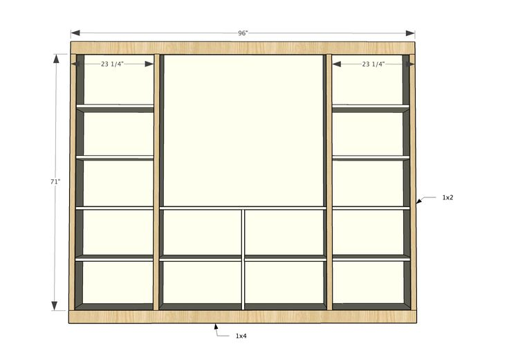 Ana White Build A Sliding Barn Door Media Wall Suite