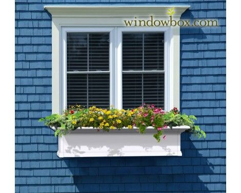 Provincial Window - Kit - White - Vinyl Window Boxes - Window Boxes - Windowbox.com