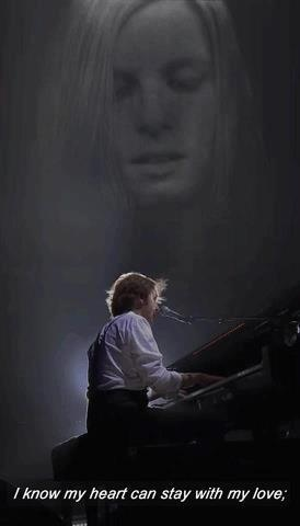 ♥♥J. Paul McCartney♥♥  ♥♥Linda Eastman-McCartney♥♥  I remember him singing this at his concert with her pic in the background