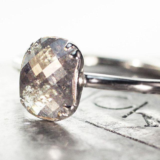 1.11 carat grey diamond ring. chincharmaloney.com