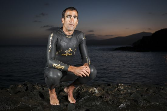 Part of a photo shoot I did for BH Bikes, with sponsored #triathlete Eneko Llanos. Although this shot was taken at sunset, at the Puerto Calero Marina on Lanzarote, of Eneko wearing his #Sailfish #wetsuit (2013)