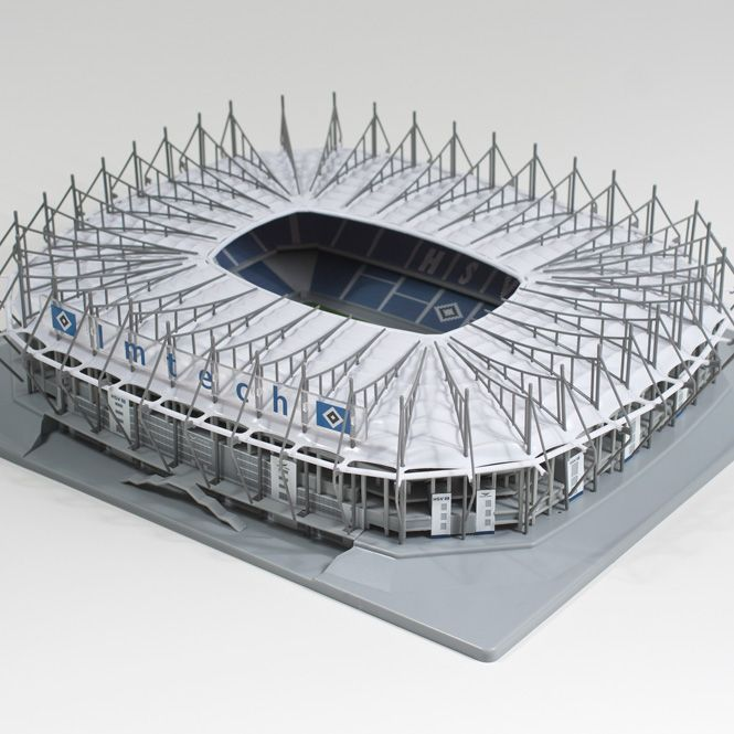 Modellbausatz Imtech Arena: Technische Daten: Grundfläche: ca. 50.000 qm Umbauter Raum: ca. 200.000 cbm Rasen: beheizt
