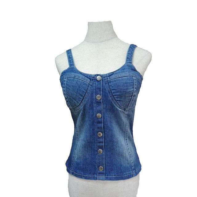 summer stretchy denim camis women sleeveless tops tight girls elastic shirts sexy bra tops with adjustable straps