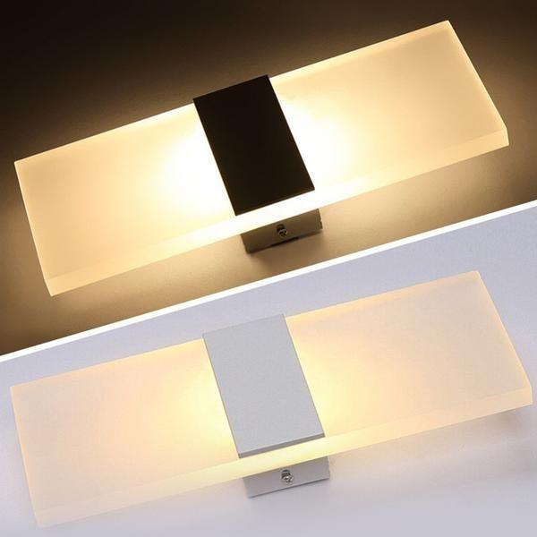 Modern Strip Acrylic Led Wall Lamp Warmly Led Wall Lamp Sconce Lamp Wall Mount Light Fixture