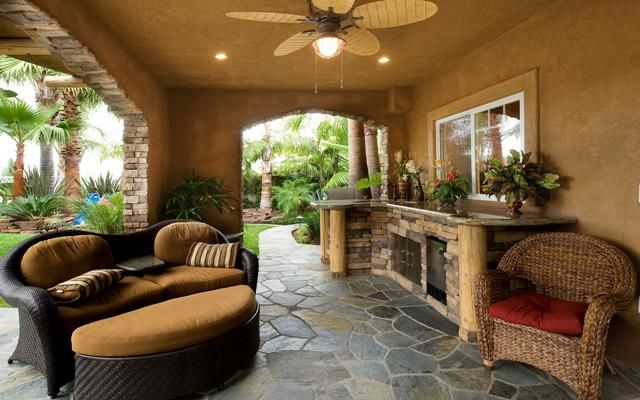 Traditional Outdoor Kitchen in Lewisville - manicured, outdoor kitchen   by Complete Exterior Solutions By RW Blue