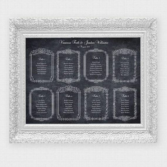 chalkboard frame seating chart  printable file by idoityourself, $60.00