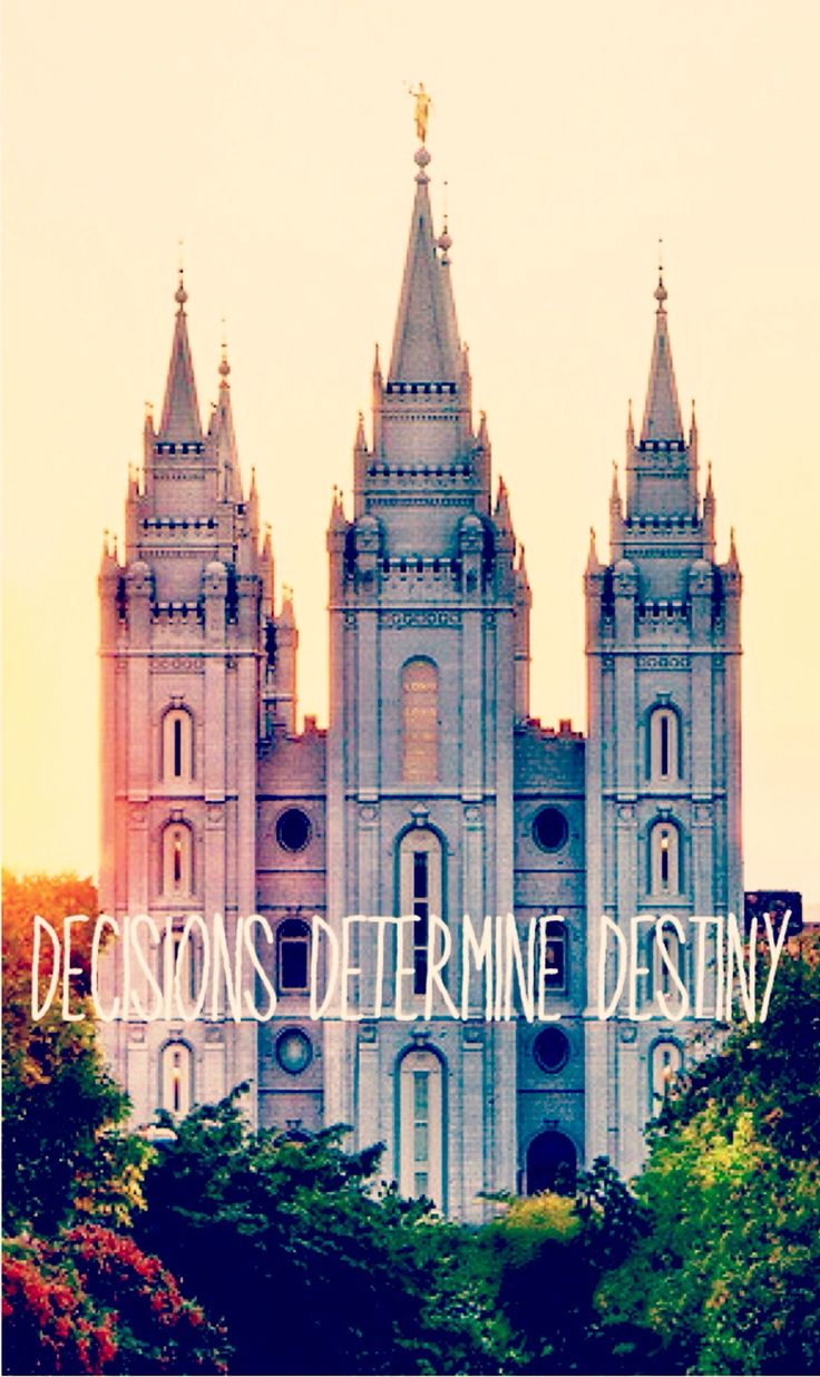 Decisions determine Destiny. #mormon #lds #temple