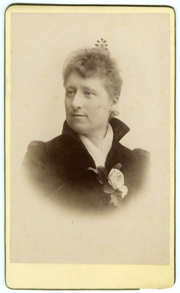Anna Palm de Rosa Swedish painter 1859 - 1924  Carte de visite  1890ies, Unknown photographer