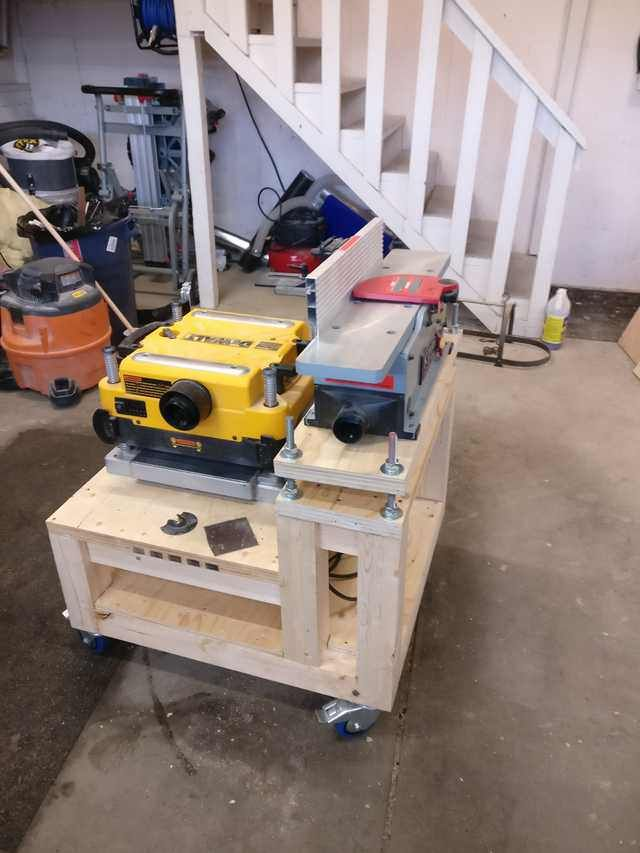 Planer Jointer Bench Shop Cart In 2019 Woodworking Shop Layout Wood Planer Woodworking