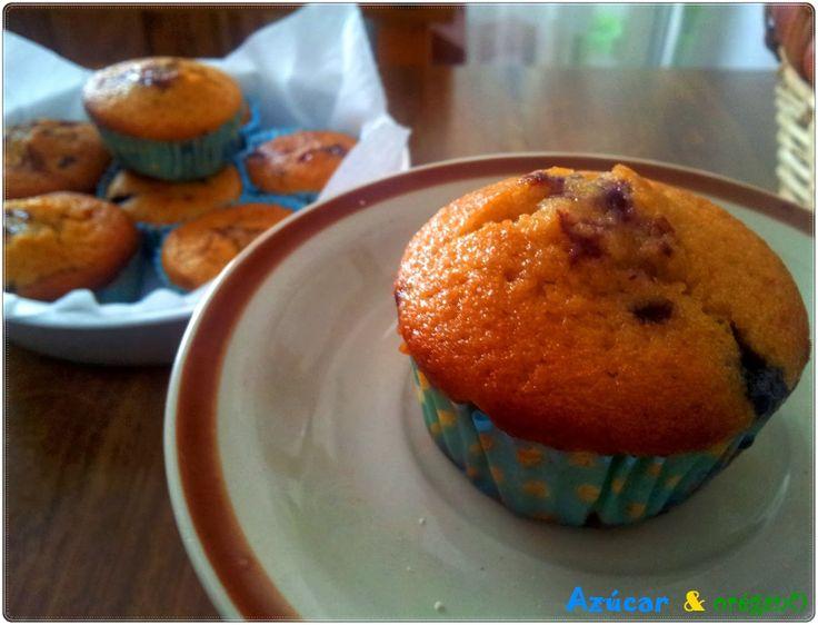 Magdalenas/ Muffins de arándanos