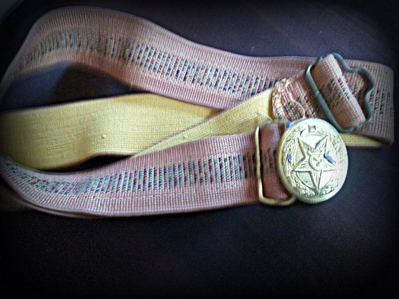 Authentic WWII Era Red Army Soviet Belt Russia USSR  100% original belt from Soviet Union army. They feature a large star in the center with the