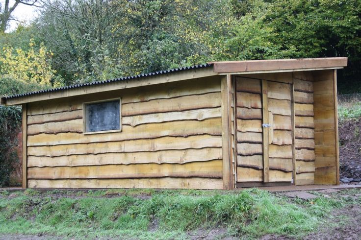 Rustic Shed | The Wooden Workshop | Bampton, Devon The lovely rustic look of waney edge timber