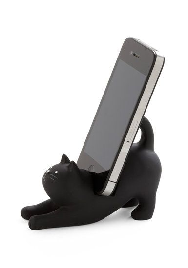 "Purr-fect Gifts For the Cat Ladies in Your Life: ""You've Gato a Call"" Phone Stand ($22)"