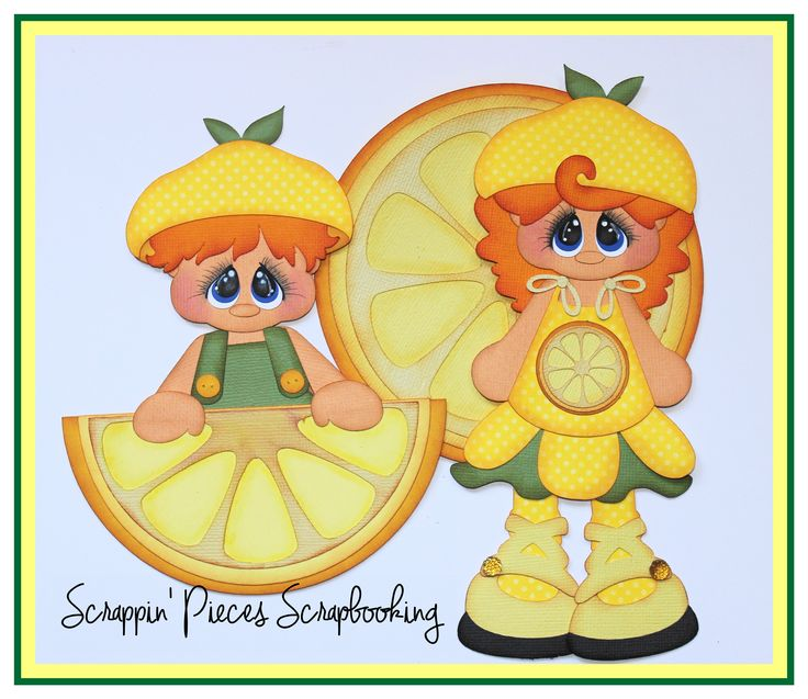 "Scrappin' Pieces Scrapbooking ""Little Fruities Lemon"""