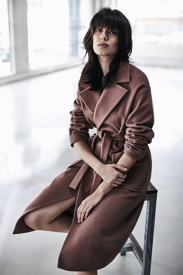 Luxury Wrap Coat by Jigsaw Love the plum brown colour