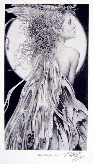 MOON FAERIE print by Ed Org  artistsuk.co.uk
