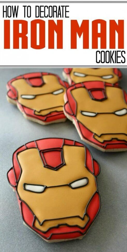 Iron Man Cookies these would be awesome for little man's birthday!