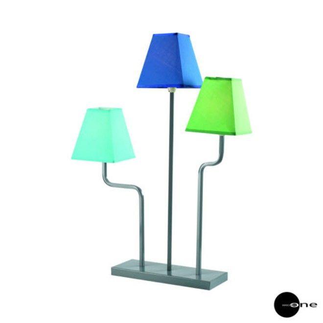 MASCAGNI ONE LAMPADA H.65 IN METALLO VERNICIATO CON PARALUME IN TELA
