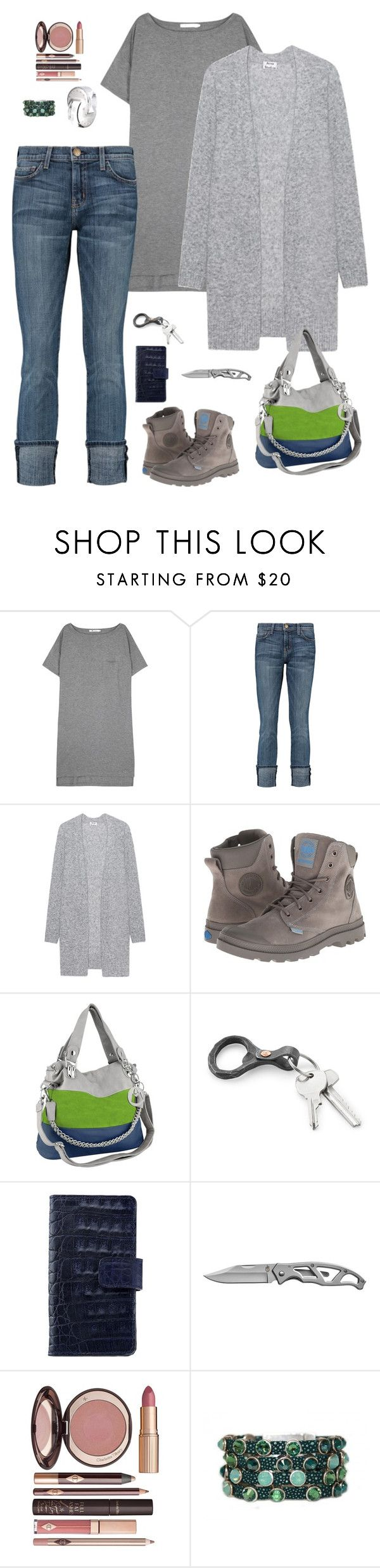 """""""Me today"""" by stacy-hardy ❤ liked on Polyvore featuring T By Alexander Wang, Current/Elliott, Acne Studios, Palladium, Anne Sisteron, Bulgari, Charlotte Tilbury and HEET"""