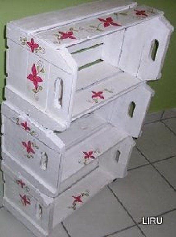 Cajas de fresas decoupage box and craft - Manualidades con cajas de frutas ...