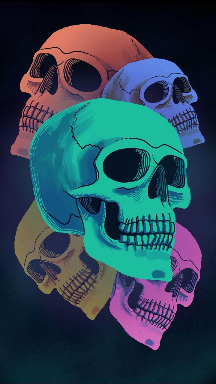 Gambar Ditemukan Oleh ѕnyeyayai Temukan Dan Simpan Gambar Dan Videomu Di We Heart It Skull Wallpaper Skull Wallpaper Iphone Dark Wallpaper Iphone