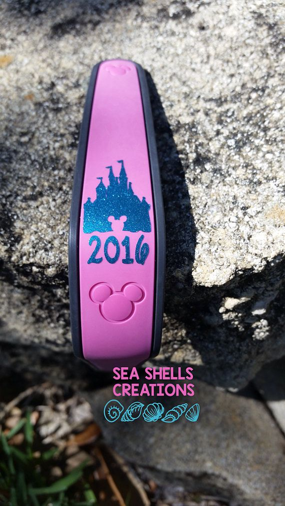 Personalize your magic bands for your next Disney trip. These Castle Decals with year are a perfect way to add a special touch to your magic