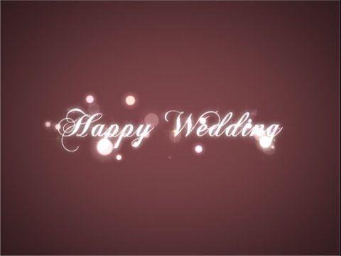 結婚式ビデオの無料素材 キラキラ現れるタイトル Sparkle Title Reveal - YouTube